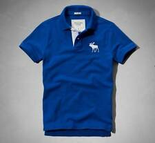 Abercrombie & Fitch Men by Hollister Polo Blue/ white moose S, M, L, XL, XXL