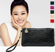 2014 New Women's Fashion crocodile pattern Mini Clutch bag Girl's wallet bags