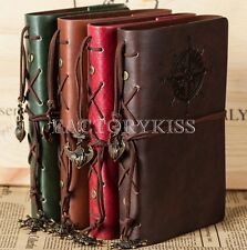 Retro Vintage Pendant Anchor Cover Leather Journal Diary Notebook Stationery DUS