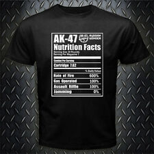 New AK-47 Russian Riffle Funny Nutrition Facts T-shirt Tee