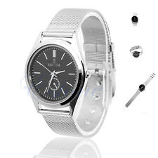 Luxury Couple Lover Men Women Round Dial Stainless Steel Band Quartz Wrist Watch