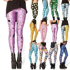 Women's Sexy 3D Graphic Printe Pattern Stretch Elastic Punk Leggings Tight Pants