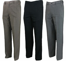 MENS NEW FARAH TROUSER FLAT FRONT FLEXI WAIST IN 3 COLOURS 30 TO 64 BIG WAISTS