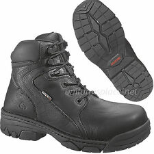 """Wolverine Work Boots Mens Safety Composite Toe Falcon 6"""" W02377 Black Leather"""