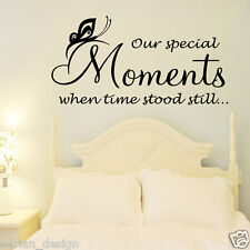 Our Special Moments, Inspirational Quote, Wall Sticker, Transfer, SALE!!!