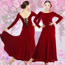 NEW Latin salsa Ballroom Dance Dress Prom Dress Top & Skirt #HB202