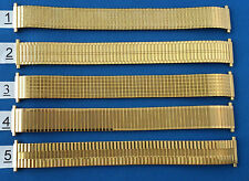 Expanding Watch Strap Band in GILT or CHROME 16--20mm Used  By Jewellers  BETTER