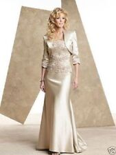 Deep Champagne Mother Of Bride/Groom Dress With Jacket Prom Dress Outfit Stock