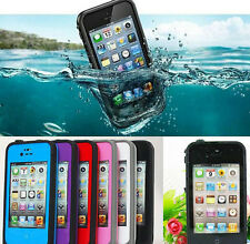 Cool PC Waterproof Shockproof Dirt Proof Hard Cover Case For Mobile iPhone 4S 4