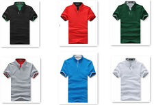 New Fashion Casual Specially designed Collar Short-sleeved Men's T-shirt