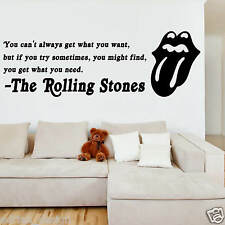 The Rolling Stones lyric wall Sticker Decal Transfer new design
