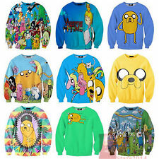 New 2014 Adventure Time Print Women/Men Hoodies Cartoon SWEATSHIRT Pullovers