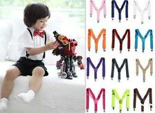 DI US New Children Kids Boy Girls Clip-on Suspenders Elastic Adjustable Braces