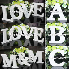 Freestanding Wood Wooden Letters Alphabet Bridal Wedding Party Table Decorations