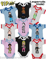 VIPwees Baby Grow Vest Male Solo Legend Music Inspired Caricatures Choose Design