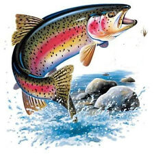MONSTER RAINBOW TROUT FISHING T-SHIRT SHORT SLEEVE CRAPPIE WALLEYE PIKE MUSKIE