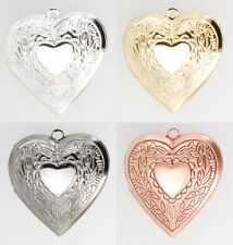 Heart shaped engraved locket with matching necklace option