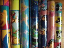"""Ambassador Disney Hard To Find Kids Gift Wrap Wrapping Paper 15 sq ft 30"""" Rolls"""