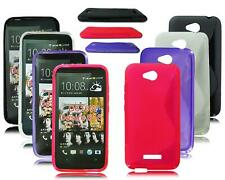 NEW S LINE SOFT GEL MOBILE PHONE CASE COVER FOR HTC DESIRE 616 D616W