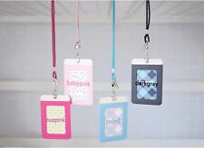 Easy Window Metro ID Card Case Cover Holder 3 pockets with Neck Strap