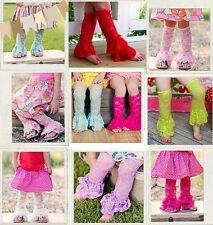 Girls Flower Lace Legwarm Stockings Ankle Socks Leg Warmers For 0-6years Old