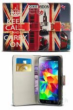 Vintage London Classic Heritage Book Wallet Flip Case Cover for Mobile Phone