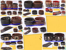 Leather Bracelet Men Bracelet  Wholesale Lots J001-021