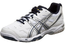 NEW Asics Gel-Game 4 White/Silver/Navy Men's Tennis Shoes E306Y-0150