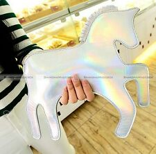 Women Unicorn Horse Faux Leather Clutch Bag Handbag Purse Shoulder Bag Crossbody