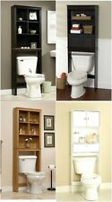 Bathroom Spacesaver Over The Toilet Cabinet Shelf Organizer Wood Furniture New