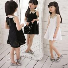 Rare Cheap Baby Girl Kid Clothes Cocktail Wedding Lace Prom Dresses Size 3-8Y