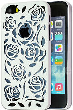 Rose Hard Case Cover for Apple iPhone 5C 4 5 6 Screen Protector
