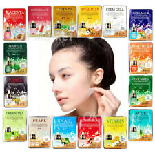 Face Mask Sheet Pack Skin Care Lots Facial Moisture Essence Korean Masque 3 pcs