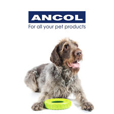 NEW Ancol Green Tough Durable Dog Puppy Rubber Tyre Chew Toy Small Medium Large