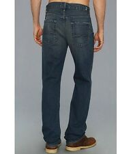 $198 Men's Seven 7 For All Mankind Carsen Easy Straight Leg Jeans 29-38 Vnt Dark