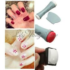 Pro Nail Art Polish Stamp Stamping Stamper Scraper Double Ended Manicure Tool