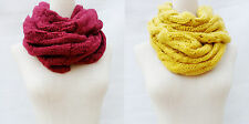 New Women Infinity Scarf Knitted Warm Soft Winter Neck Circle Wool Cowl Shawl