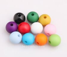 25pcs Mixed Color Acrylic Round Loose Spacer Beads 10mm Charm Finding Jewelry