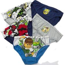 BOY'S 5 PK OF BEN 10 PANTS/BRIEFS 6-7 7-8 8-9 9-10 11-12 13-14YRS