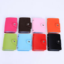 24-Cards Pu Leather Pocket Business ID Credit Card Holder Storage Case Wallet