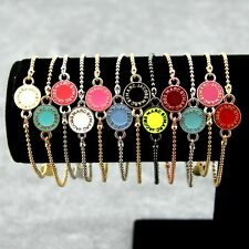 New Classical MARC BY M JACOBS Disk Logo Letters Bracelet 12 colors available