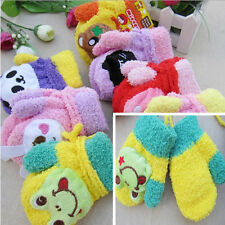 Fashion Cute Girl Cartoon Soft Mitten Baby Kids Child Warm Winter voice Gloves 6