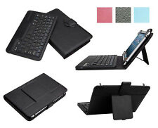 2in1 Premium Detachable Wireless Bluetooth Keyboard Leather Case For Tablet PC