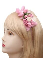 Fabric Lace and Pearl Flower Bouquet Design Alice Band Headband Hair Accessories