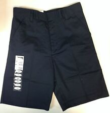 BOYS FLAT FRONT SHORTS SCHOOL UNIFORM CHOOSE NAVY KHAKI OR BLACK NEW NWT