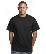 PRO 5 T-Shirt - Super Heavy BLACK ( ALL SIZES ) - tight neck thick shirt