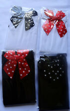 polka dot bow ladies costume stockings thigh high socks fancy dress red black