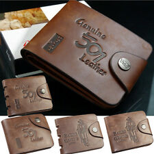 Cool Vogue Pockets Purse Card PU Leather Wallet Folded Bifold New Fashion Brown