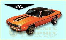 1969 Chevrolet Yenko Camaro SYC Decals & Stripes Kit