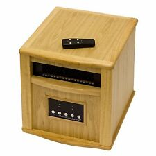 Wooden Indoor Space Heater with Remote Control